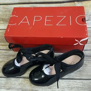 Capezio Jr Tyette Black Tap Shoes N625C Toddler